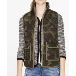 J. crew excursion quilted camo Puffer Vest